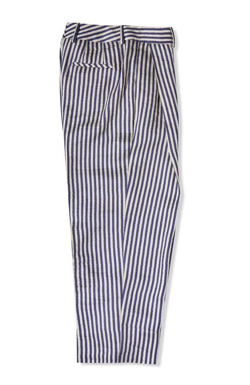 High-waisted regular fit trousers in linen blend , Slowear Incotex | Slowear