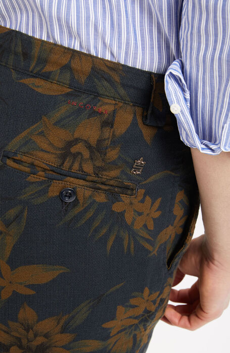 Regular Fit Floral Print Shorts , Incotex - Slacks | Slowear
