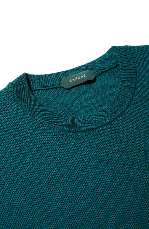 Regular fit merino wool crewneck sweater , Zanone   Slowear