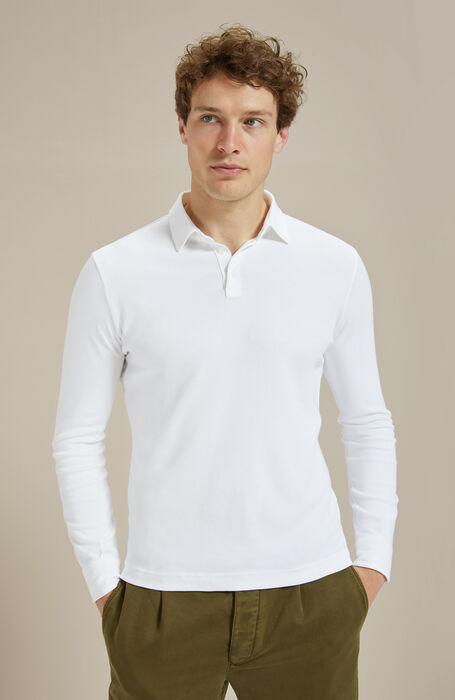 Long-sleeved cotton interlock jersey polo shirt , Zanone | Slowear