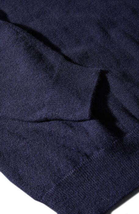 カシミアウール・クルーネックセーター/ダークブルー , Zanone | Slowear