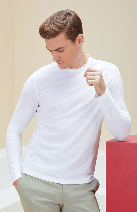 White long-sleeved IceCotton T-shirt , Zanone | Slowear