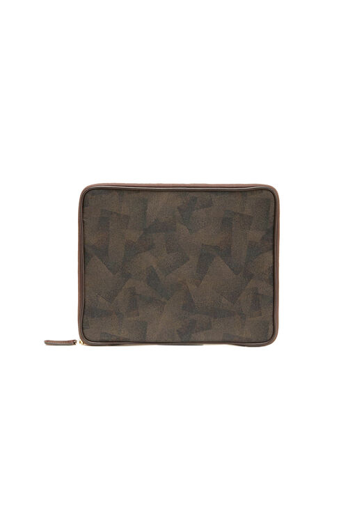 Laptop bag in military nylon and leather details , Felisi | Slowear