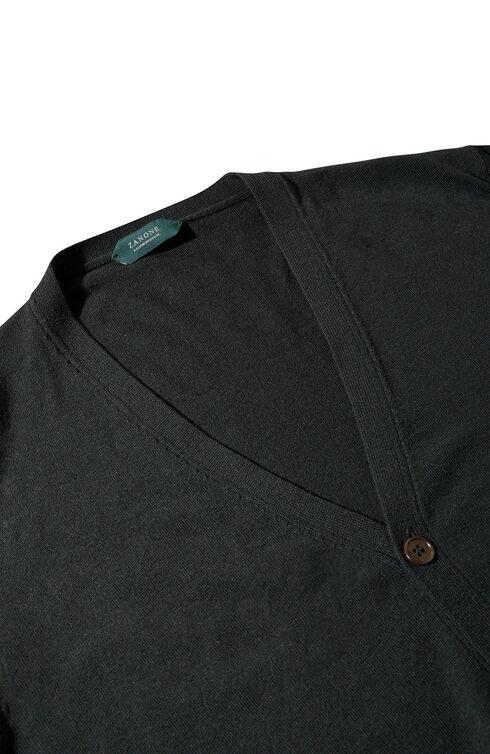 Slim-fit Flexwool cardigan , ZANONE Flexwool | Slowear