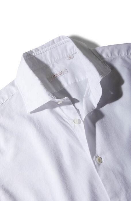 コットン・フレンチカラー・スリムフィットシャツ/ヘリンボーン , Glanshirt | Slowear