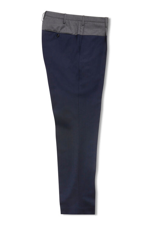 Tapered-fit tropical wool trousers with colour contrast belt , Incotex - Venezia 1951 | Slowear