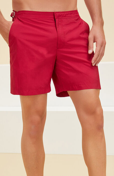 Swimsuit in technical fabric red , Incotex Mare   Slowear