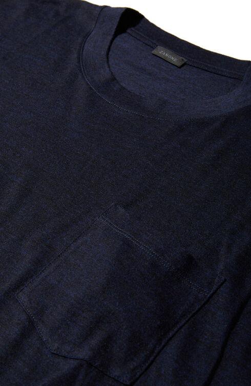 Short-sleeved merino wool jersey T-shirt , Zanone | Slowear