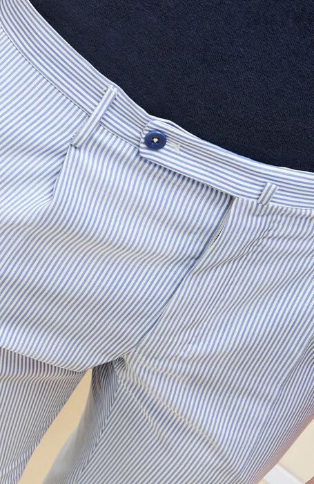 Ultralight striped merino wool slim fit trousers , Incotex - Venezia 1951 | Slowear