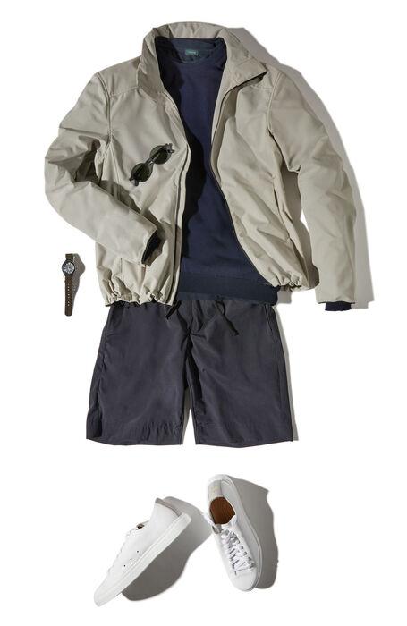 Regular fit Bermuda shorts in blue technical fabric , Urban Traveler   Slowear