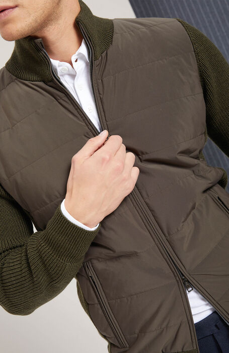 Padded jacket with  zip , Zanone | Slowear
