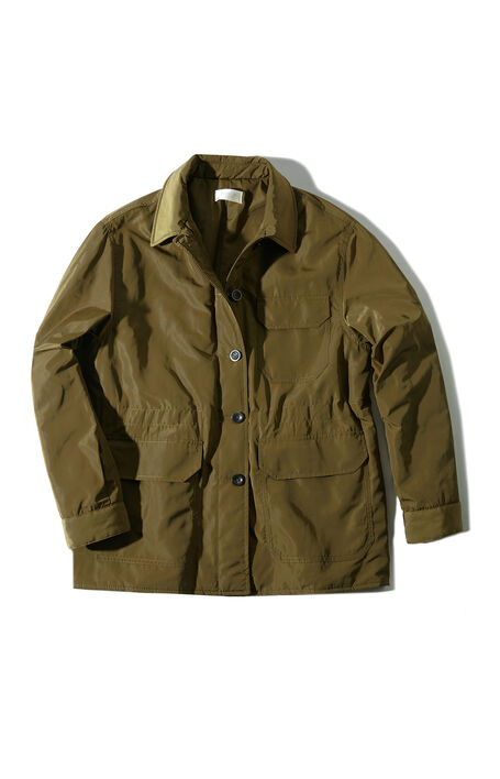 Padded jacket in military green water-repellent technical fabric , Montedoro   Slowear
