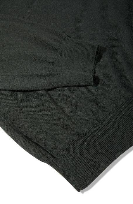 Green Flexwool V-neck sweater. , Zanone | Slowear