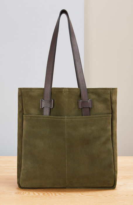 Suede business bag , Officina Slowear | Slowear