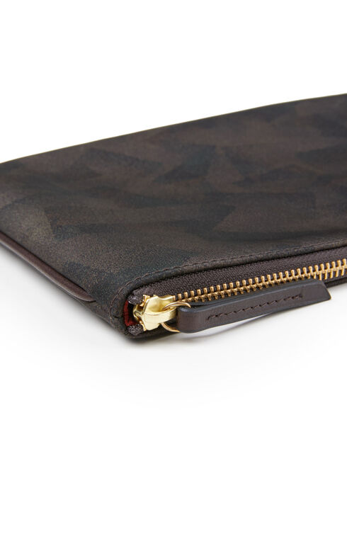 Document holder in military nylon with leather details , Officina Slowear | Slowear