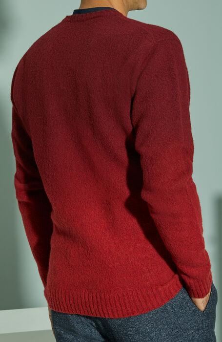 Red degradé effect lambswool crewneck sweater , Zanone | Slowear