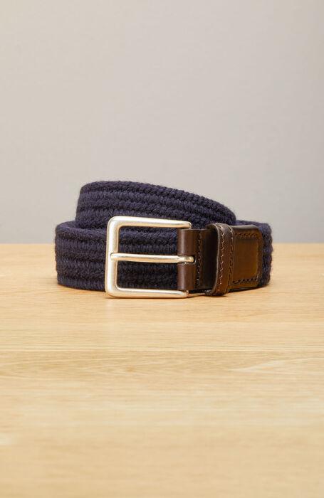 Belt in a mix of wool and calfskin , Officina Slowear | Slowear