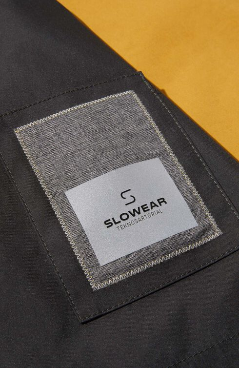 Parka in water repellent technical fabric with contrast cotton inner lining , Slowear Teknosartorial | Slowear