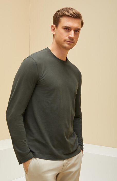 T-shirt manica lunga in IceCotton verde , Zanone | Slowear