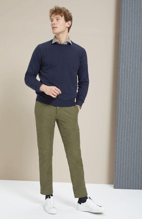 Slim-fit Japanese print cotton shirt with French collar , Glanshirt | Slowear