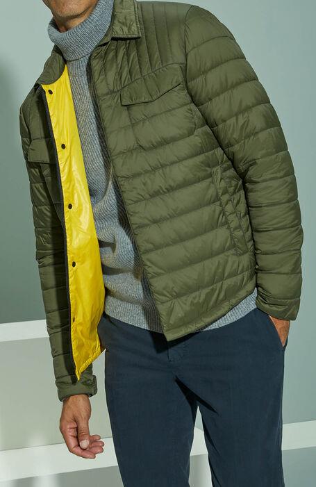 Padded shirt covered in green technical fabric , Urban Traveler   Slowear