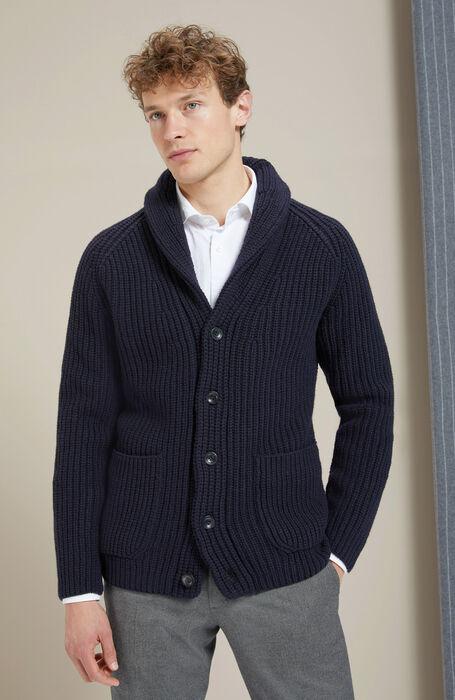 Lambswool maxi cardigan with shawl collar , Zanone | Slowear