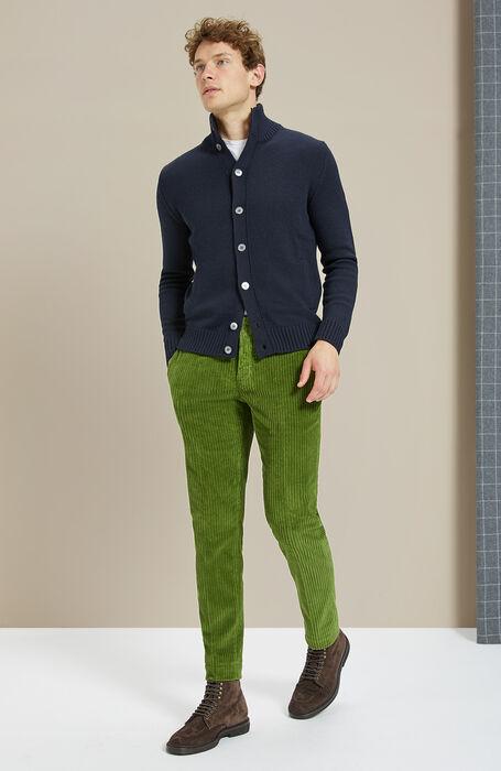 Merino wool blue Chioto cardigan , Zanone | Slowear