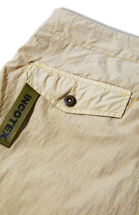 Cotton and superlight nylon carrot-fit trousers , Incotex - Slacks | Slowear