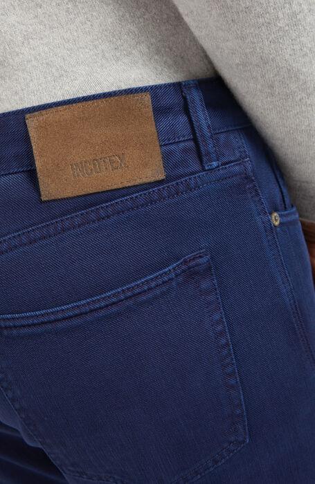 ブルーのコットンブルのスリムフィットパンツ , Incotex - Cinque Tasche | Slowear