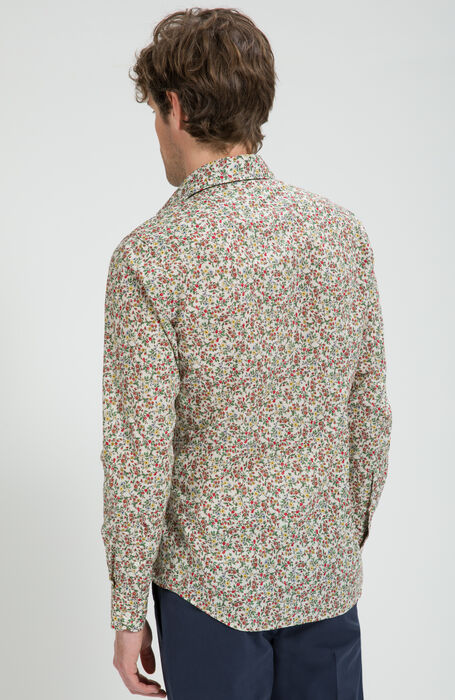 Slim Fit Floral Print Cotton Shirt with Cutaway Collar , Glanshirt | Slowear