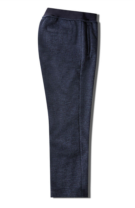 Slim fit cotton jersey and blue wool trousers with drawstring , Incotex - Venezia 1951 | Slowear