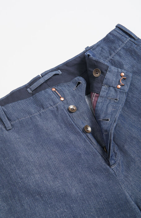 Pantalone Wide Fit con Pattern Herringbone , Incotex - Verve | Slowear