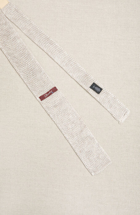 Square stitch linen knit tie , Officina Slowear | Slowear