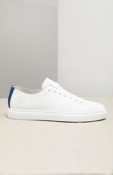 Hammered Calfskin Sneakers with Blue Detail , Officina Slowear | Slowear