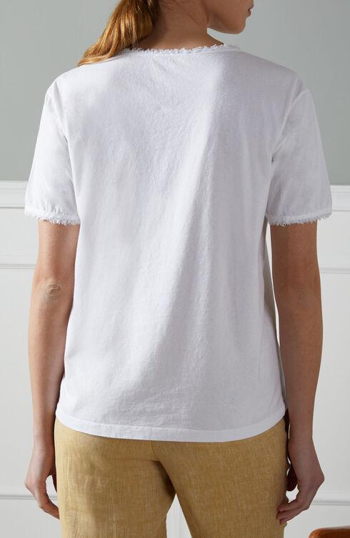 Oversized short-sleeved T-shirt in cotton jersey  , Slowear Zanone | Slowear