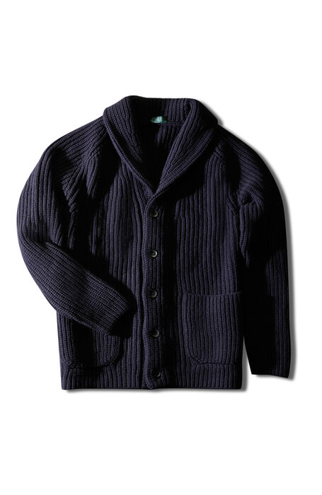 Lambswool maxi cardigan with shawl collar , Zanone   Slowear