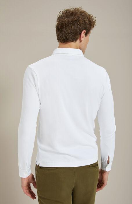 Long-sleeved cotton interlock jersey polo shirt , Zanone | Slowear
