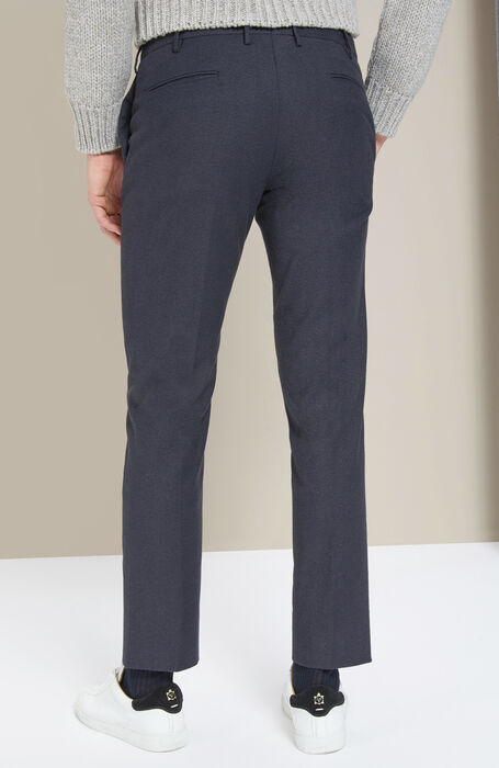 Slim-fit blu cashmere touch trousers , Incotex - Venezia 1951 | Slowear