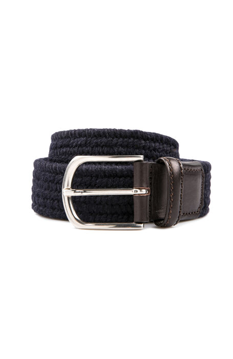 Braided wool belt with leather details , Officina Slowear | Slowear