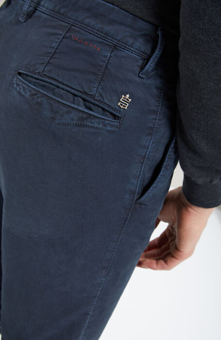 Slim-fit blue stretch Tricochino trousers , Incotex - Slacks | Slowear