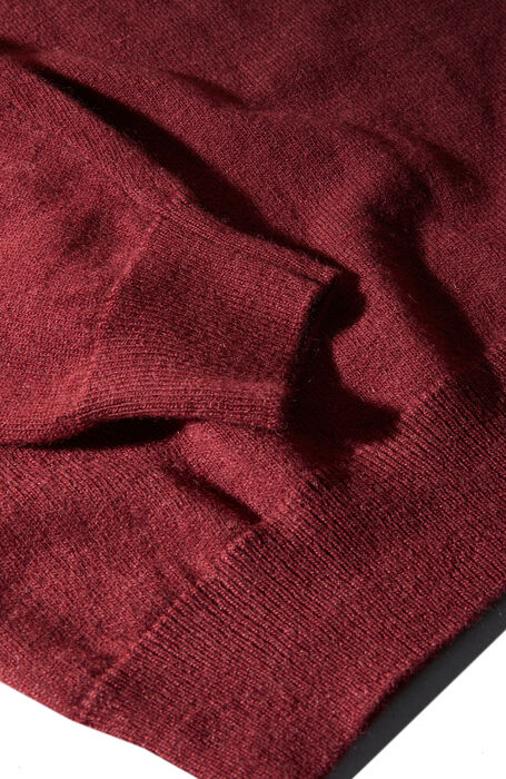 Burgundy wool and cashmere crewneck , Zanone | Slowear