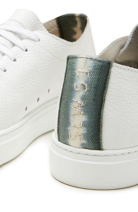 Trainers in leather with green degradé detail , Officina Slowear | Slowear