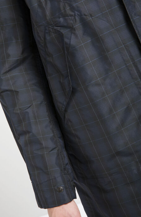 Prince of Wales Parka in Yarn Dyed Technical Fabric , Montedoro | Slowear