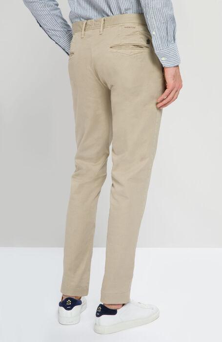 Slim Fit Trousers in Beige Stretch Cotton , Incotex - Slacks | Slowear