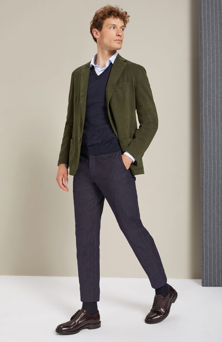 Slim-fit French-neck shirt in Percalle cotton , Glanshirt   Slowear