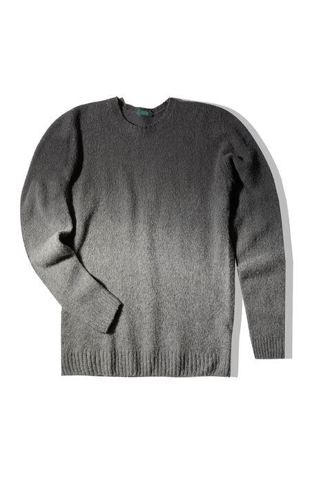 Grey lambswool degradé effect crewneck sweater , Zanone | Slowear