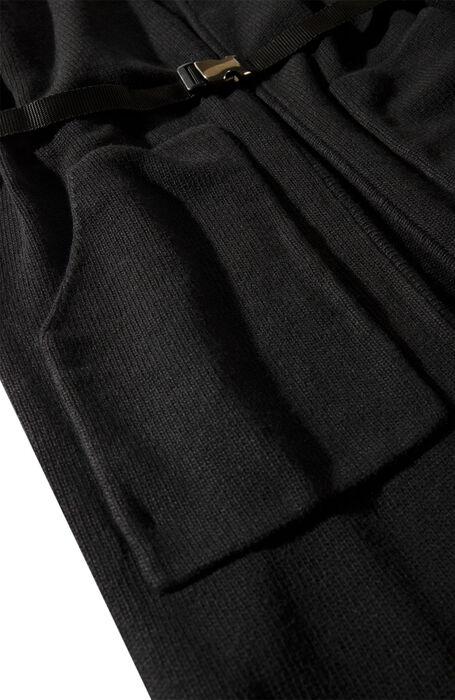 Oversized coat in black wool, cashmere and viscose , Zanone | Slowear