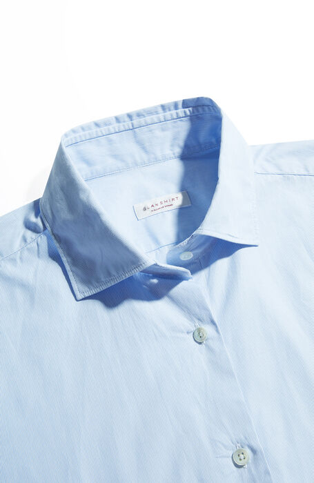 Slim-fit shirt with French collar , Glanshirt | Slowear