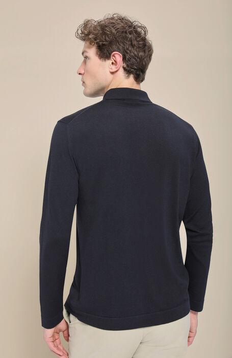 "Camicia in ""Flexwool"" blu , Zanone | Slowear"