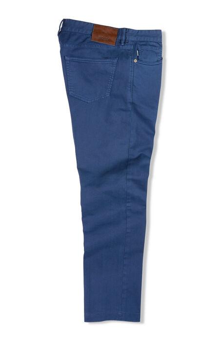 Slim fit five-pocket blue cotton bull pants , Incotex - Cinque Tasche | Slowear
